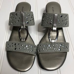Karen Scott silver heeled sandals